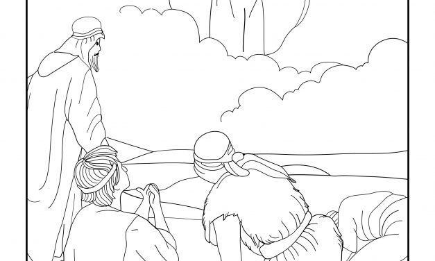 Angels appear to the sheperds – Free colouring page
