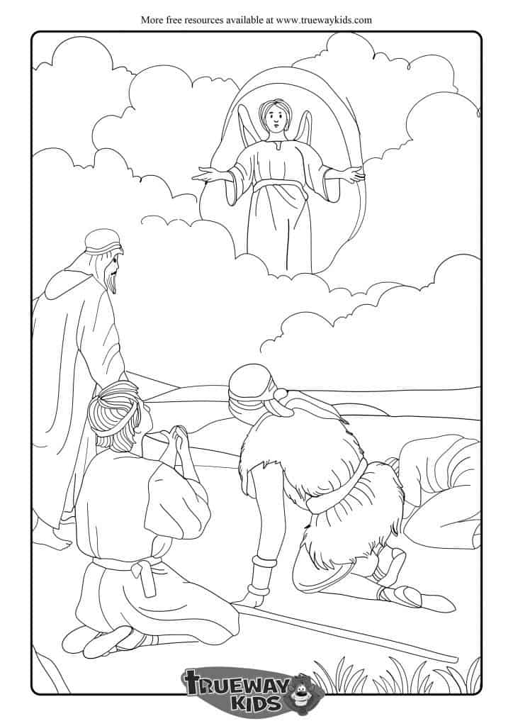 angels announce the birth of jesus to shepherds