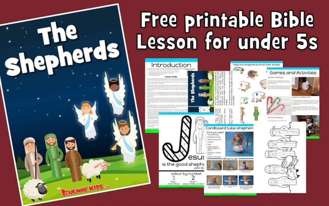 The Shepherds – Free printable Christmas Bible lesson