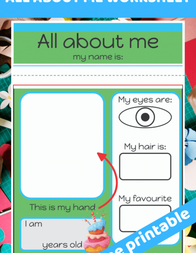 All about me preschool worksheet