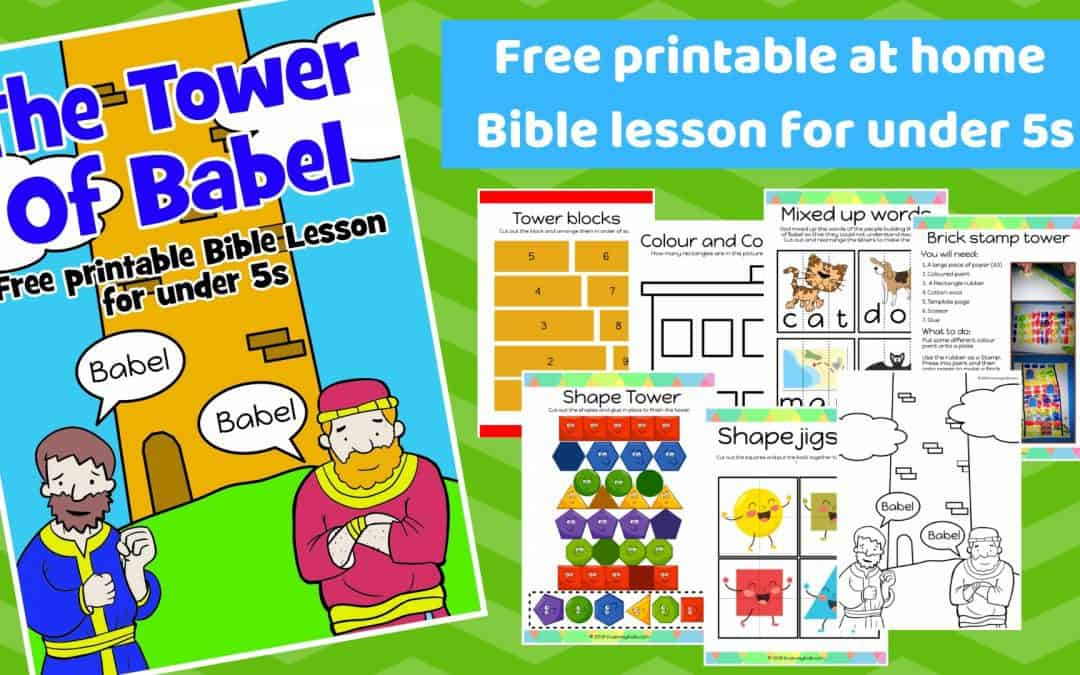 The Tower of Babel – Free printable Bible lesson for preschoolers