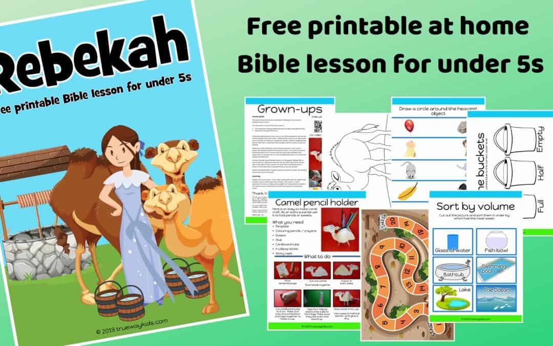 SoIsaac and Rebekah preschool Bible lesson. Learn about choice and doing good. Games, Crafts, Activities, songs, lesson, worksheets and more.