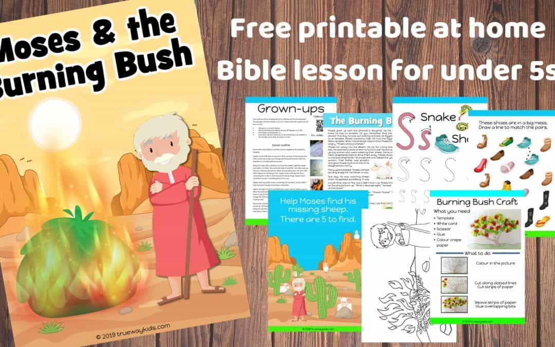 Moses and the burning Bush - free printable preschool Bible lesson