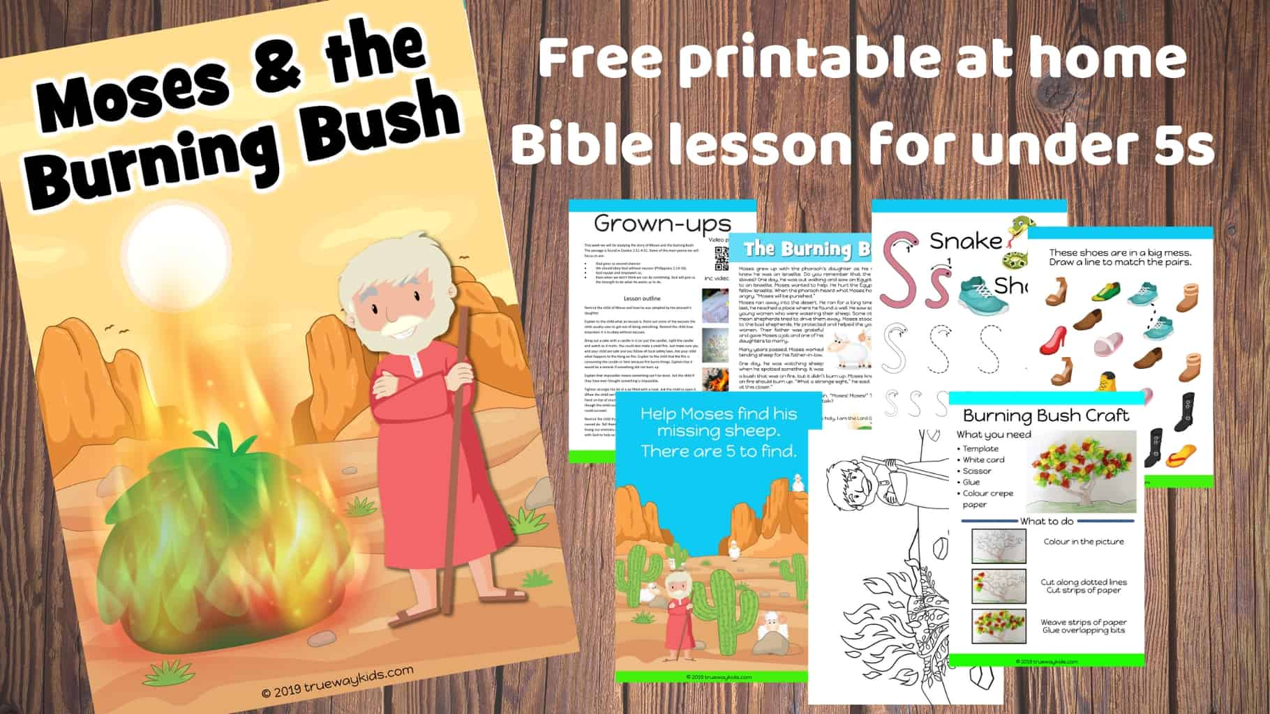 Moses and the Burning Bush - Free Bible lesson for under ...
