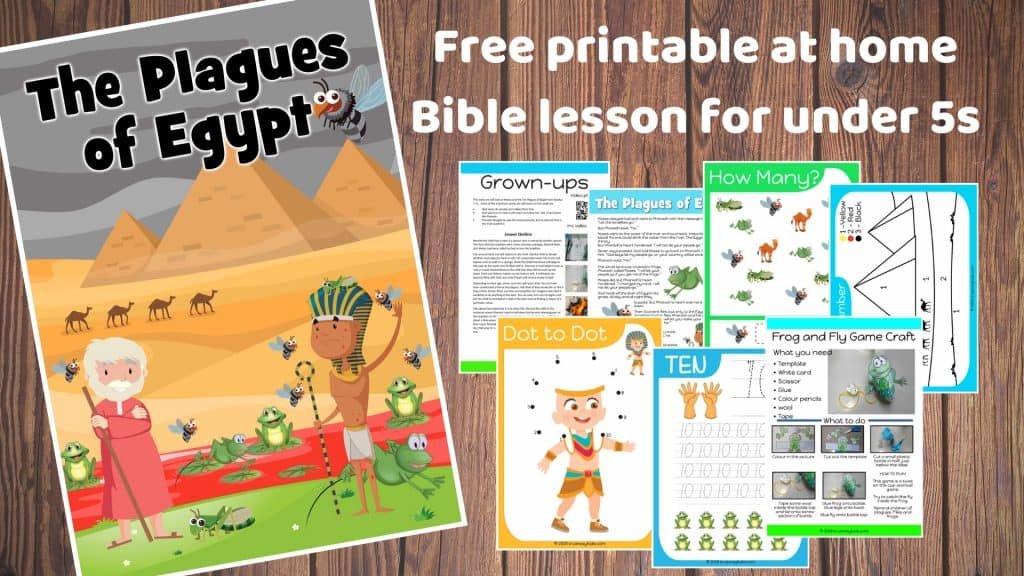 Moses and the Plagues preschool Bible lesson. Learn about having a soft heart for God.Games, Crafts, Activities, songs, lesson, worksheets and more.