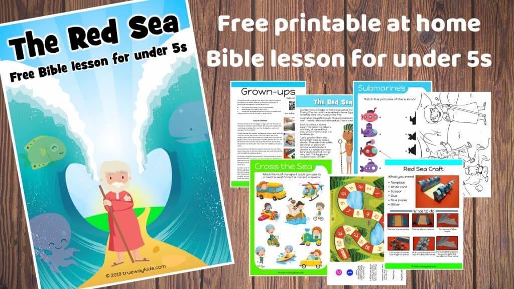 The Red Sea preschool Bible lesson. Learn about God making a way. Games, Crafts, Activities, songs, lesson, worksheets and more.