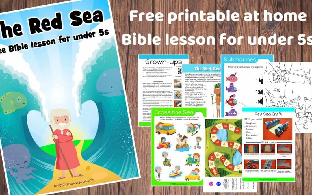 The Red Sea – – Free Bible lesson for under 5s