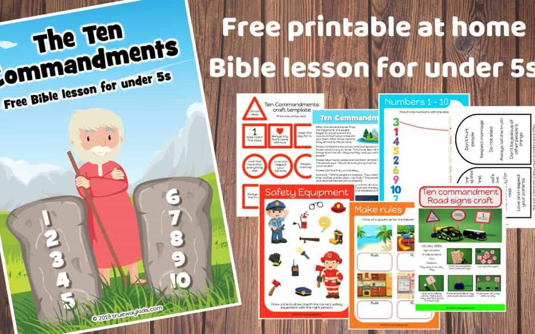 The Ten Commandment preschool Bible lesson. Learn about God rules to protect us and bless us.Games, Crafts, Activities, songs, lesson, worksheets and more.