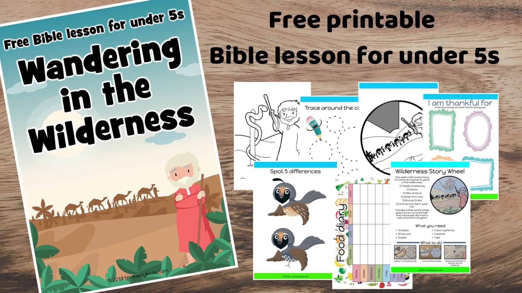 40 years Wandering in the wilderness. Learn about God's forgiveness.Games, Crafts, Activities, songs, lesson, worksheets and more. Free printable lesson.