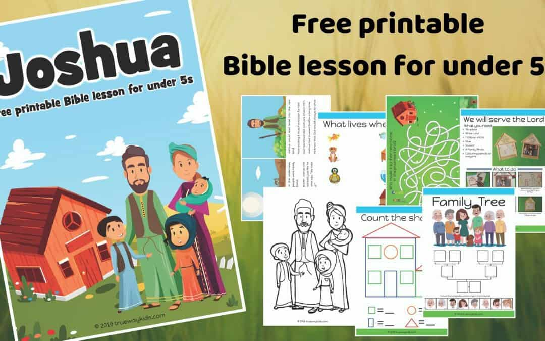 Free printable Joshua Bible lesson. Learn about families serving God together.Games, Crafts, Activities, songs, lesson, worksheets and more.