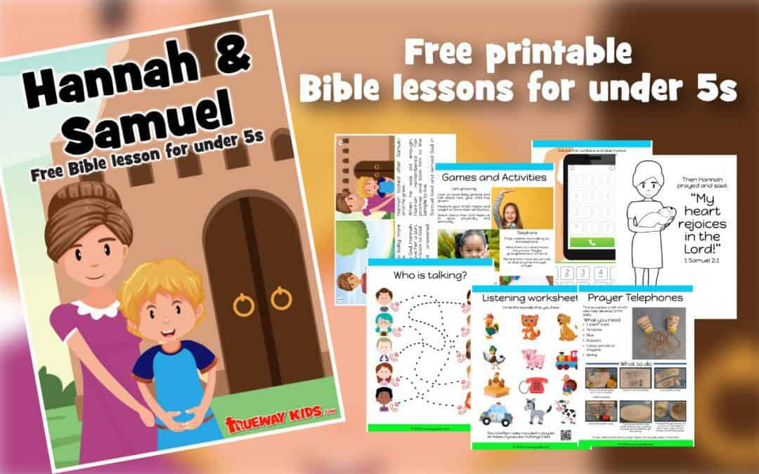 Hannah and Samuel teach us how we can pray to God and He speak to us. Free printable preschool Bible lesson included activities, worksheets, coloring, craft and more.