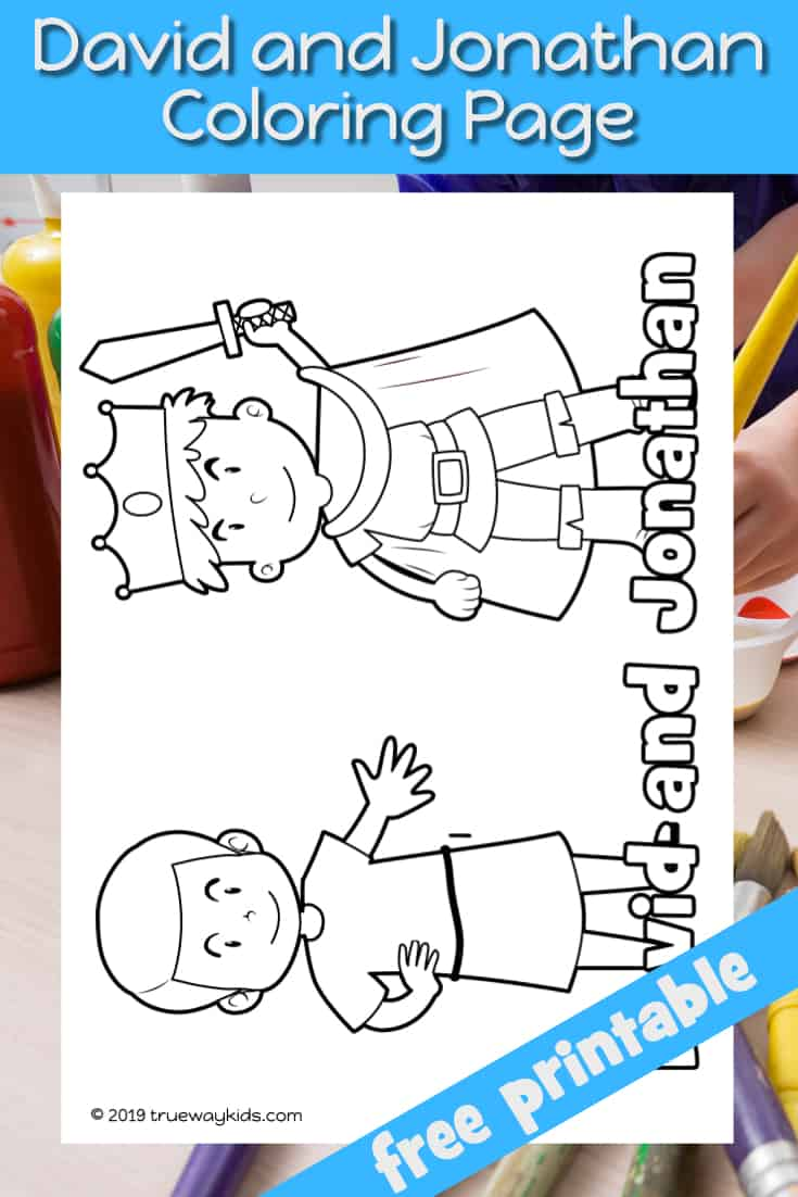 Free David And Jonathan Coloring Page, Download Free Clip Art ... | 1102x735