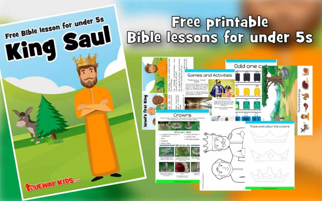 King Saul worksheets and colouring pages