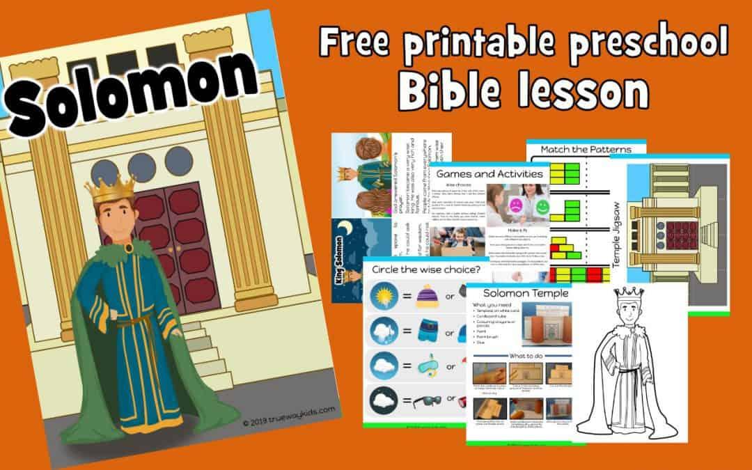 Solomon – Preschool Bible lesson