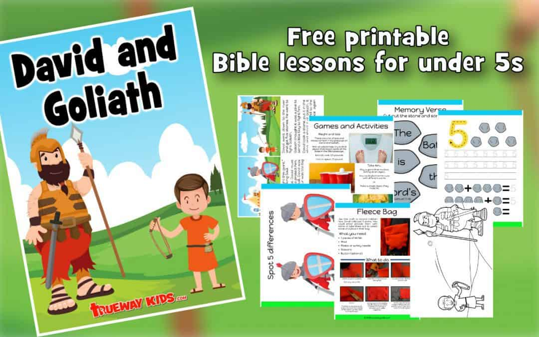 This free printable David and Goliath Preschool lesson is based on 1 Samuel 17:1-50. It includes activities, worksheets, games, coloring pages crafts and more.