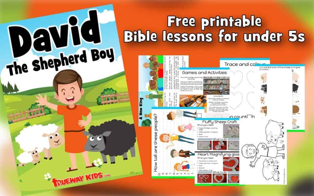 Free printable Bible lesson from 1 Samuel 16, where Samuel anoints David, a young shepherd boy, as the next king of Israel. Included games, worksheets, coloring pages and more.