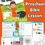 Free printable Bible lesson from 1 Samuel 16, where Samuel anoints David, a young shepherd boy, as the next king of Israel. Included games, worksheets, coloring pages, crafts and more. God looks at the heart craft and activities.