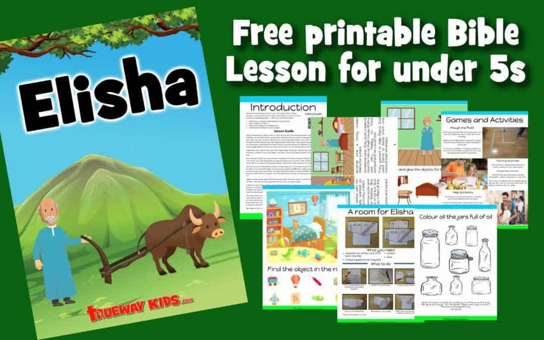 Free printable Bible lesson on the life of Elisha. Covering Elisha call, The widow's oil and the Shunammite's women and a room for Elisha. Worksheets, crafts, coloring pages, activities and more.
