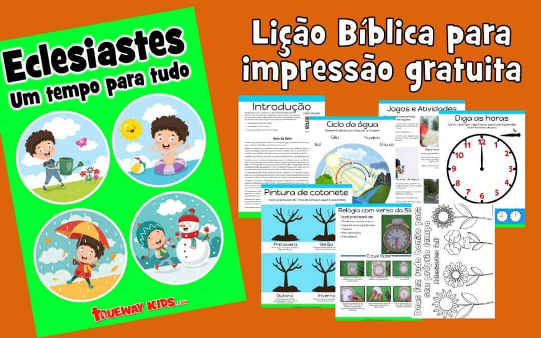 Eclesiastes. Lição Bíblica para impressão gratuita para usar em casa ou na igreja.