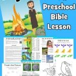 Images of pages in free printable Bible lesson on Elijah