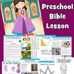 Free printable Bible lesson on Esther. Perfect for preschool children at home or Sunday School. Learn how brave Queen Esther trusted God and saved the people. Full of Bible and Purim games and activities. Bible worksheets, coloring pages, Purim noisemaker craft and more.