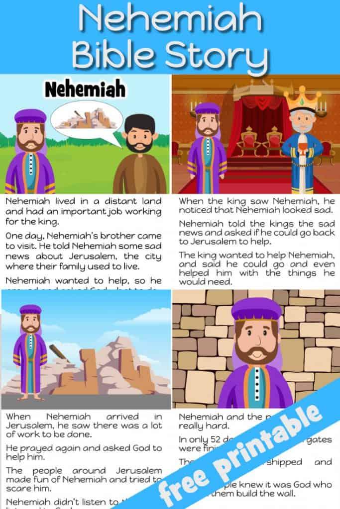 Nehemiah Bible story - Free printable