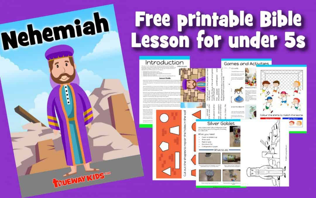 Free printable preschool Bible lesson on Nehemiah. Learn about how God empowered him to rebuild the wall through worksheets, coloring pages, crafts and more