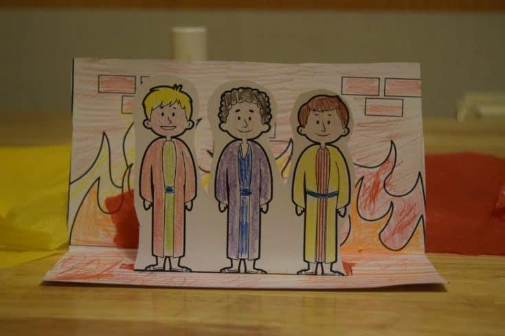 Fiery Furnace Bible craft