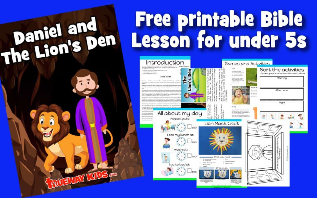 Daniel and the Lion's Den. Teach your preschool the importance of prayer and how God protects. Free printable Bible lesson includes guide, worksheets, coloring pages, crafts, games and activities and more.