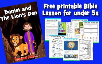 Daniel and the Lion's Den – Preschool Bible lesson