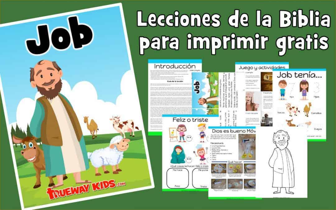 Job - Biblia para imprimir gratis, para usar en casa o en la iglesia. Cada clase incluye: resumen de la lección, historia, juegos y actividades, hojas de trabajo, páginas para colorear, manualidades y más.