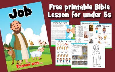 Jó – lição da bíblia para pré-escolares