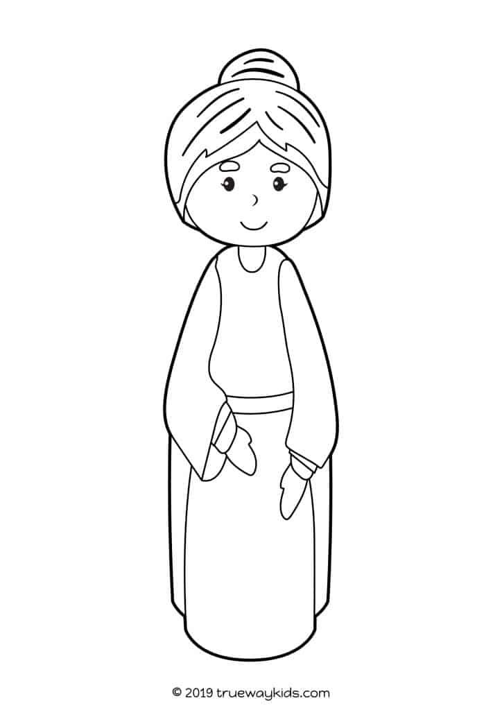 Zechariah, Saint John & Saint Elizabeth Coloring Page - TheCatholicKid.com | 1024x724
