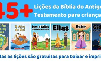Lições da Bíblia do Antigo Testamento para crianças