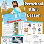 Learn about Jesus' Baptism and John the Baptist. Learn how Jesus pleased God and set an example for us. Introduce the trinity. Includes worksheets, Bible games and activities, coloring sheets, Bible craft and more.
