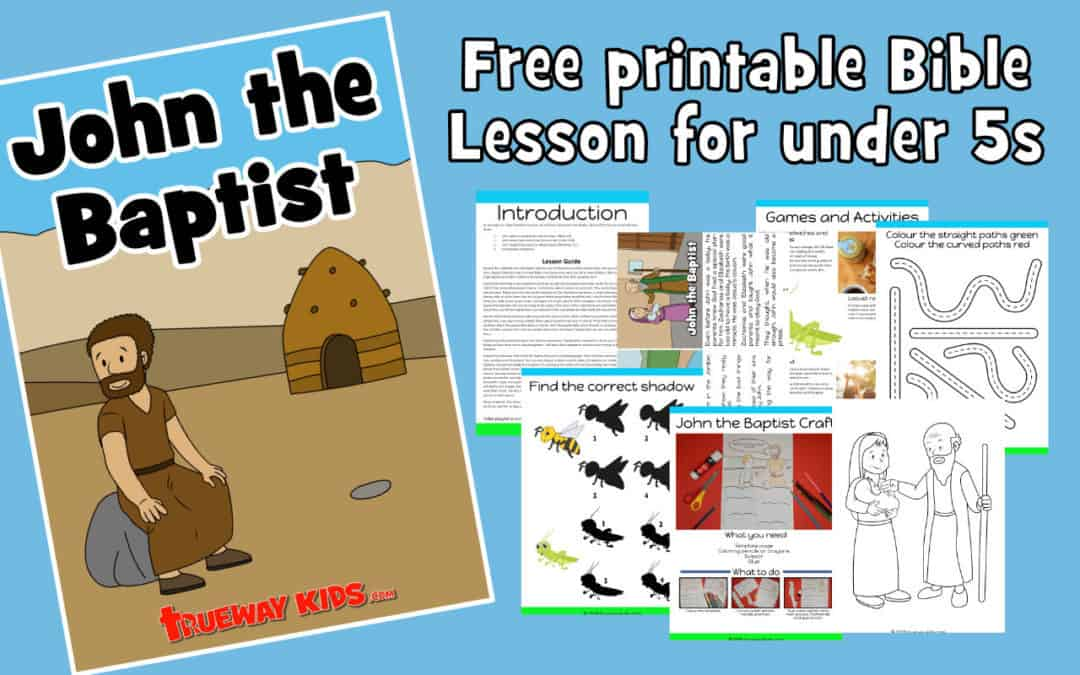 Free printable Bible lesson on John the Baptist. Learn about his birth,, message of repentance. Includes worksheets, coloring pages, Bible craft, games and activities and more