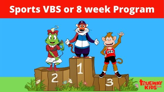 Sports VBS or 8 week sports theme Bible program for kids