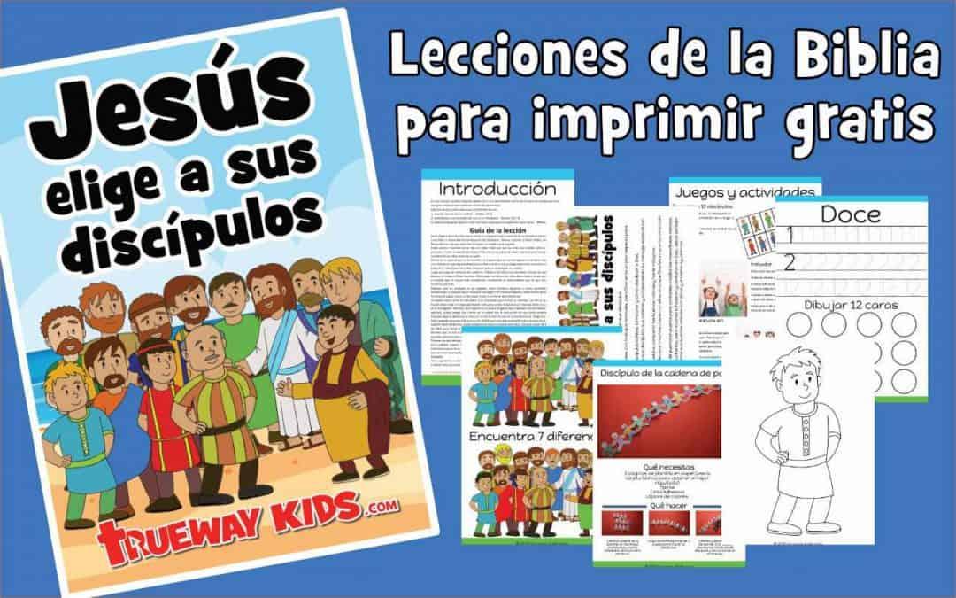 Jesús elige y envía a sus 12 discípulos una lección bíblica preescolar. Impresión gratuita para el hogar o la iglesia. Incluye hojas de trabajo, juegos, páginas para colorear, manualidades y más.