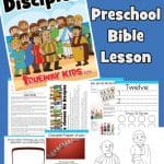 Jesus chooses and sends his disciples - Free printable preschool Bible lesson