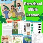 Palm Sunday - Free printable preschool Bible lesson
