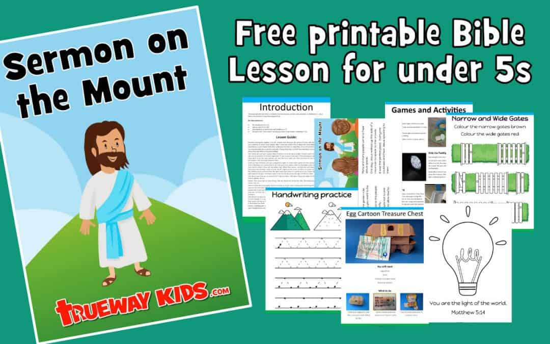 Sermon on the Mount – Preschool Bible lesson