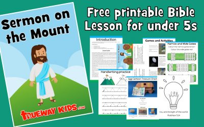 Sermon on the Mount – Preschool Bible lesson