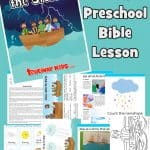 Jesus calms the storm - Free printable Preschool Bible lesson Mark 4:35-41. Included free coloring pages, story, crafts, games and activities, worksheets and more. At home Bible study for kids.