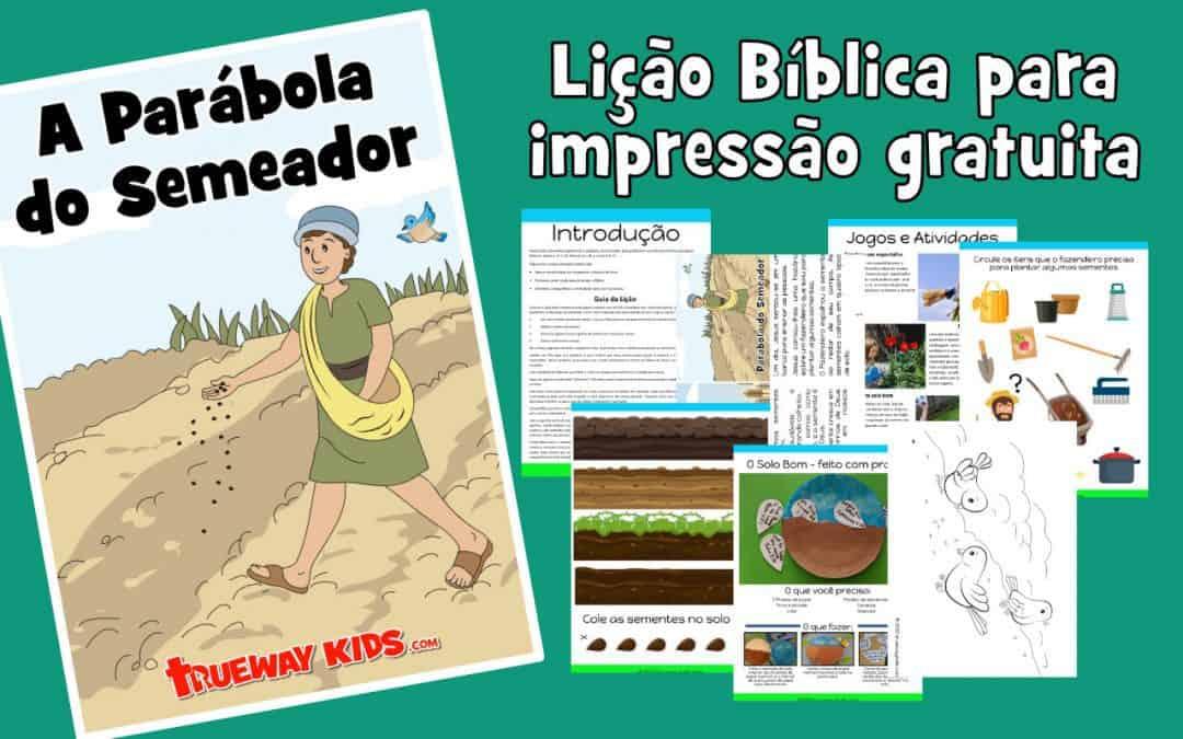 Lição bíblica imprimível grátis para crianças da Parábola do Semeador (às vezes chamada de Parábola do Solo). Inclui jogos, planilhas, artesanato, colorir e muito mais.
