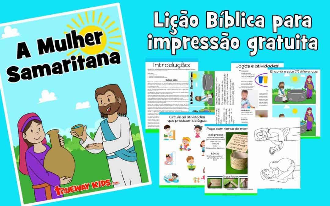 A Mulher Samaritana - lição bíblica gratuita para crianças