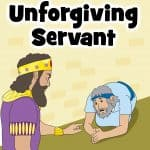 Free printable Bible lesson for kids. Jesus taught the parable of the Unforgiving Servant in Matthew 18:21-35. This parable teaches that we must forgive others, since Jesus forgave us. Worksheets, coloring pages, crafts, activities, for home or church.