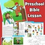 Zacchaeus - FREE printable preschool Bible lesson
